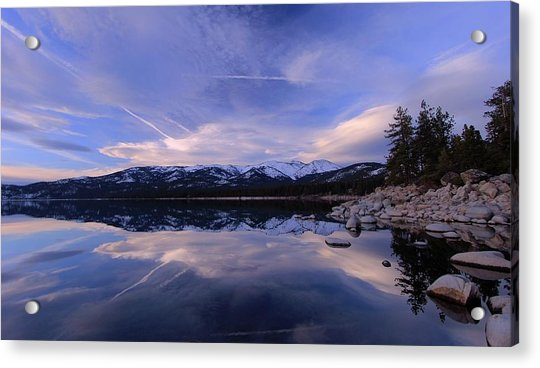 Reflection In Winter Acrylic Print
