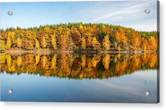 Reflection Of Autumn Acrylic Print