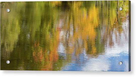 Reflection Of Fall #1, Abstract Acrylic Print