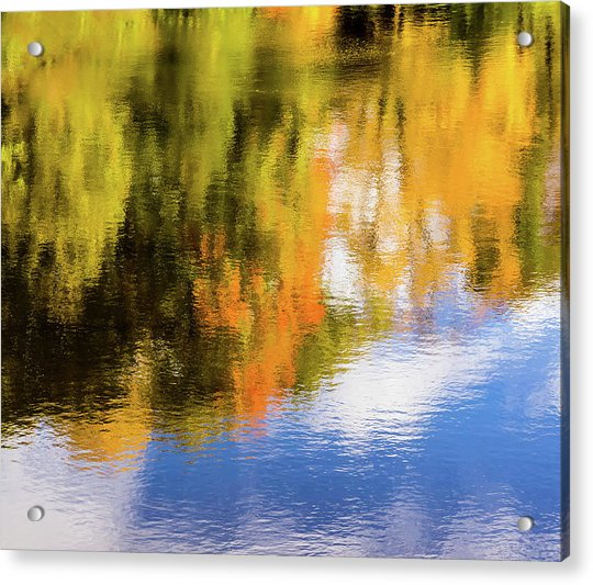Reflection Of Fall #2, Abstract Acrylic Print