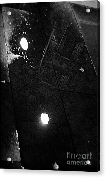 Reflection Of Wet Street Acrylic Print