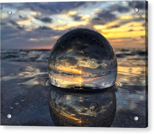 Reflections Of The Crystal Ball Acrylic Print