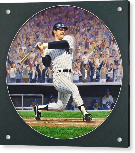 Acrylic Print featuring the painting Reggie Jackson by Cliff Spohn
