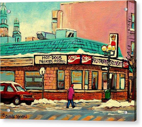 Restaurant Greenspot Deli Hotdogs Acrylic Print