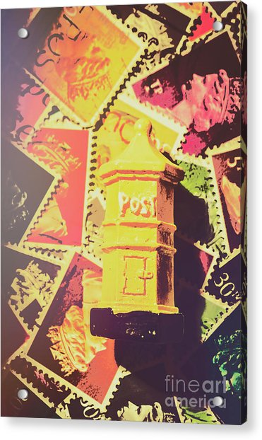Retro Postal Service Acrylic Print