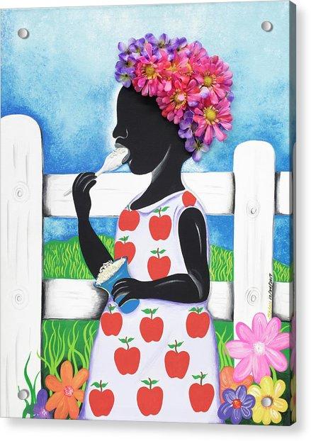 Rice Cream Girl Acrylic Print
