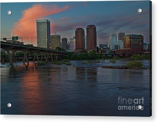 Acrylic Print featuring the photograph Richmond Dusk Skyline by Jemmy Archer