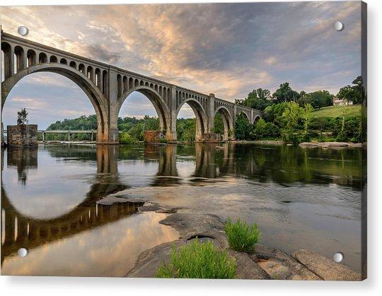 Richmond Train Bridge Acrylic Print by Michael Donahue