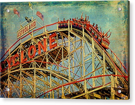 Acrylic Print featuring the photograph Riding The Cyclone by Chris Lord
