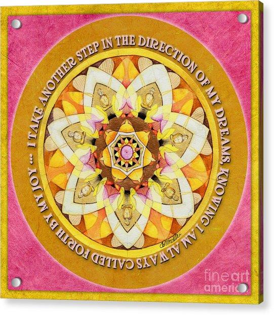Right Path Mandala Prayer Acrylic Print