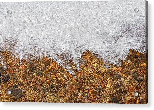 Rio Embudo Ice Acrylic Print