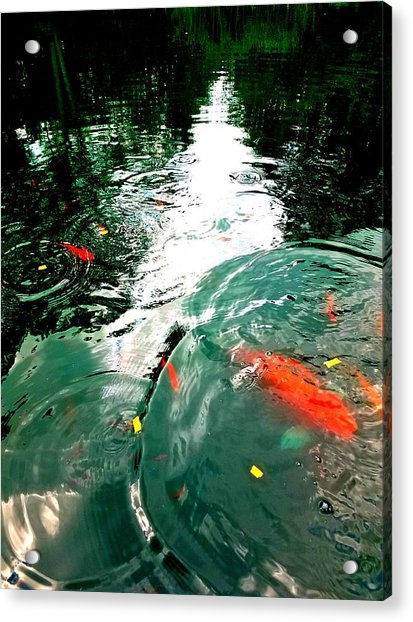 Ripple To The Past  Acrylic Print