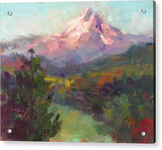 Acrylic Print featuring the painting Rise And Shine by Talya Johnson