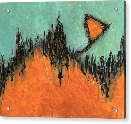 Rising Hope Abstract Art Acrylic Print