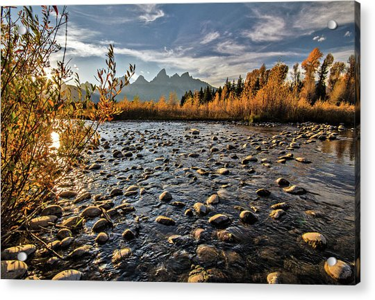River In The Tetons Acrylic Print