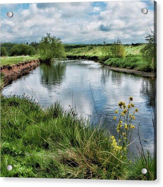 River Tame, Rspb Middleton, North Acrylic Print