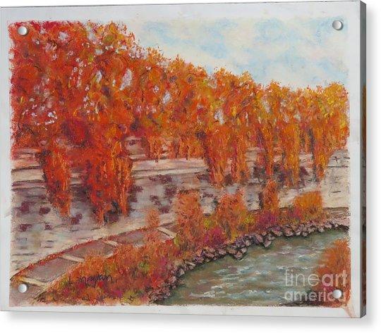 River Tiber In Fall Acrylic Print