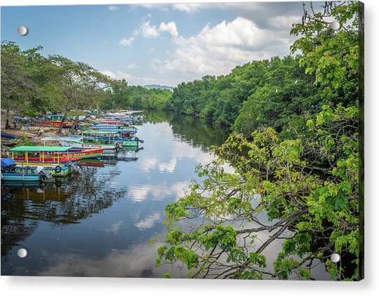 River Views In Negril, Jamaica Acrylic Print