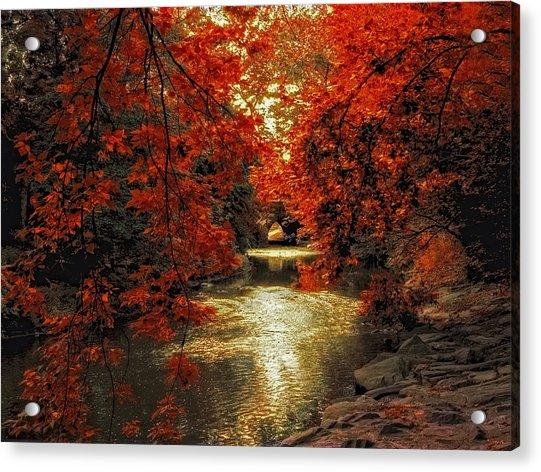 Riverbank Red Acrylic Print