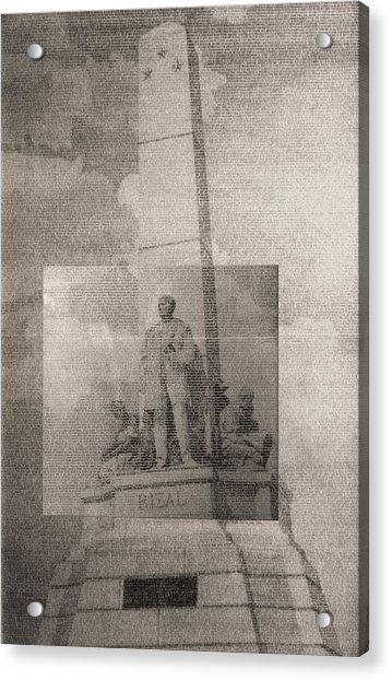 Rizal-full And Detail 1966-67 Acrylic Print