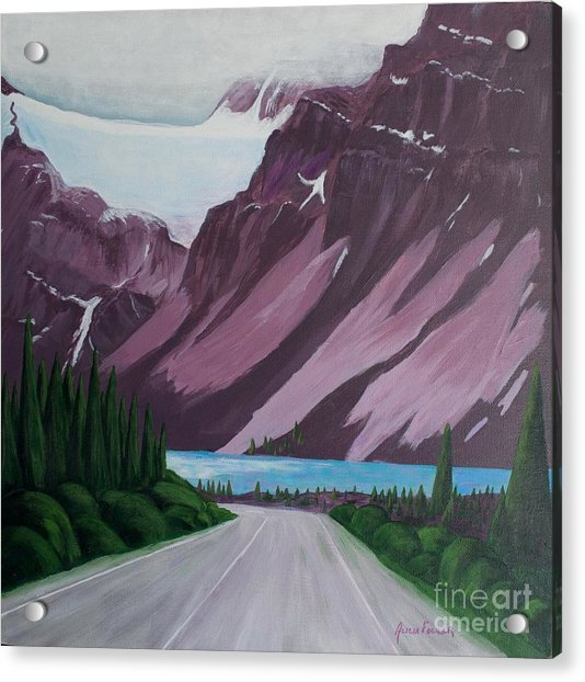 Road To Banff Acrylic Print