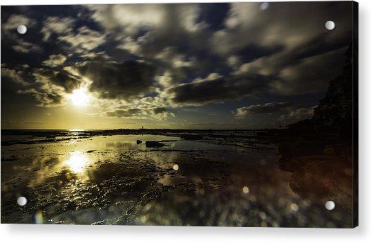 Rock Pool Sunrise Acrylic Print