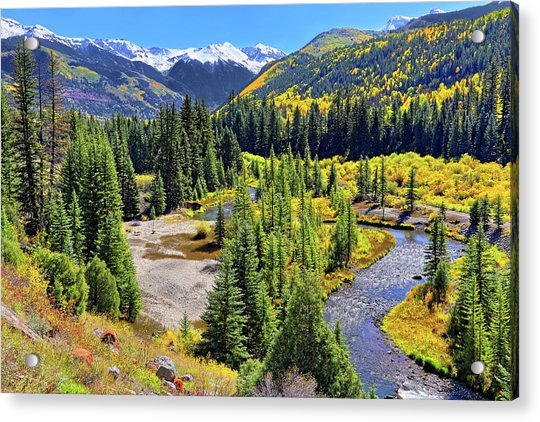 Acrylic Print featuring the photograph Rockies And Aspens - Colorful Colorado - Telluride by Jason Politte