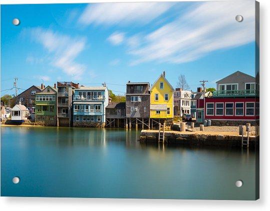 Rockport Dock Acrylic Print
