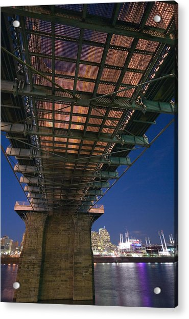 Roebeling Bridge At Night Acrylic Print