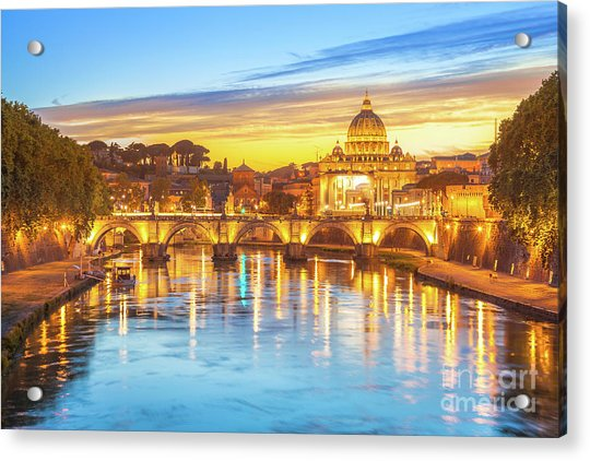 Rome At Twilight Acrylic Print