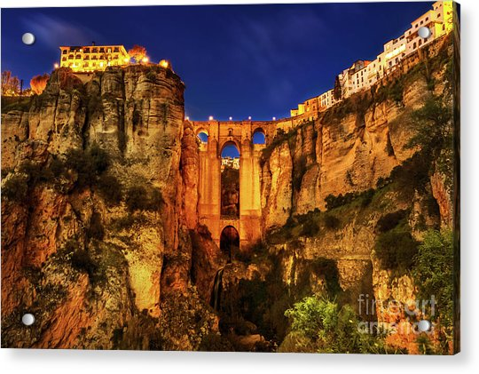Ronda By Night Acrylic Print