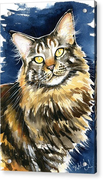 Ronja - Maine Coon Cat Painting Acrylic Print