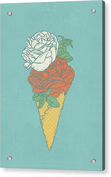 Rose Ice Cream Acrylic Print