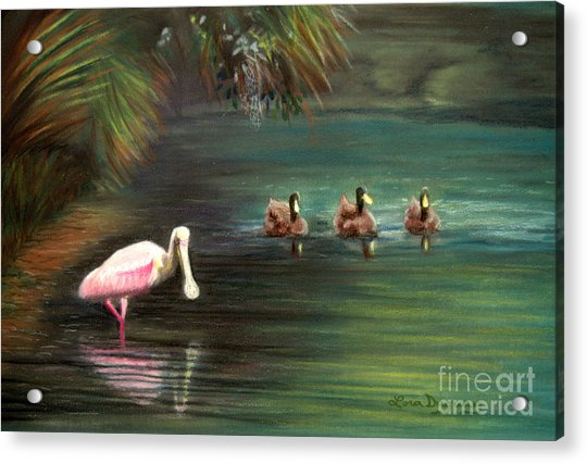 Rosey And Friends Acrylic Print