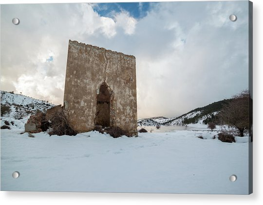 Ruin On The Snow Acrylic Print