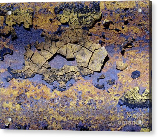 Rust And Paint Acrylic Print
