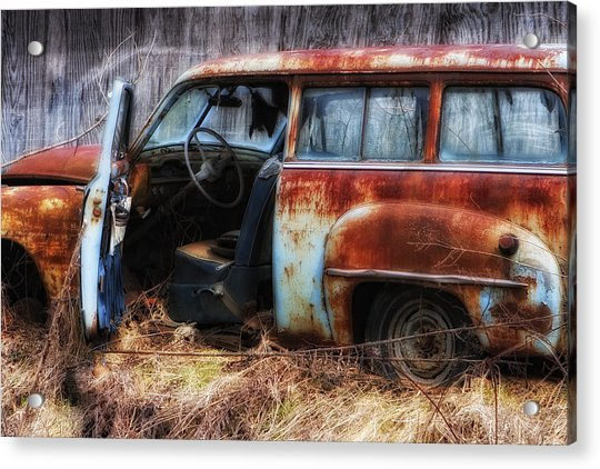 Rusty Station Wagon Acrylic Print