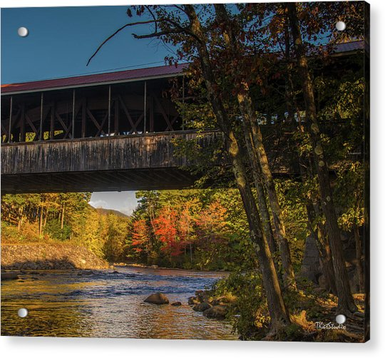 Saco River Covered Bridge Acrylic Print
