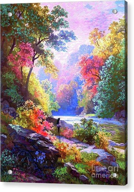 Sacred Landscape Meditation Acrylic Print
