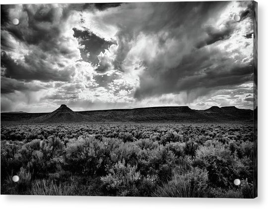 Sage And Clouds Acrylic Print