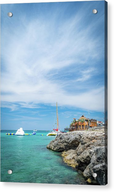 Coastline Sailing In Montego Bay Acrylic Print