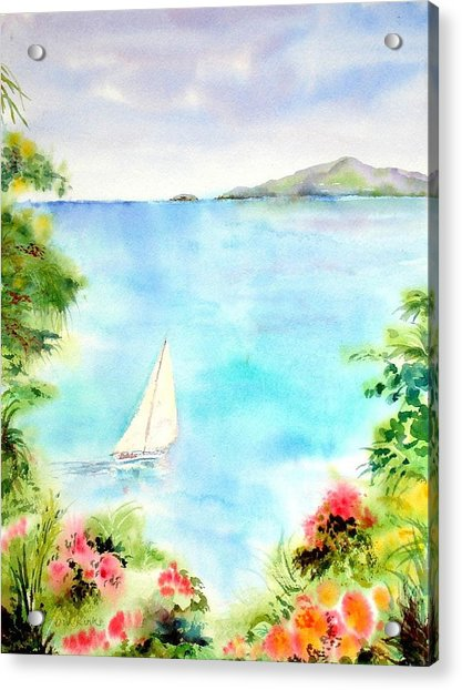 Sailing In The Caribbean Acrylic Print
