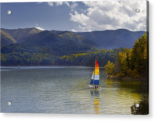 Sailing The Mountain Lakes Acrylic Print