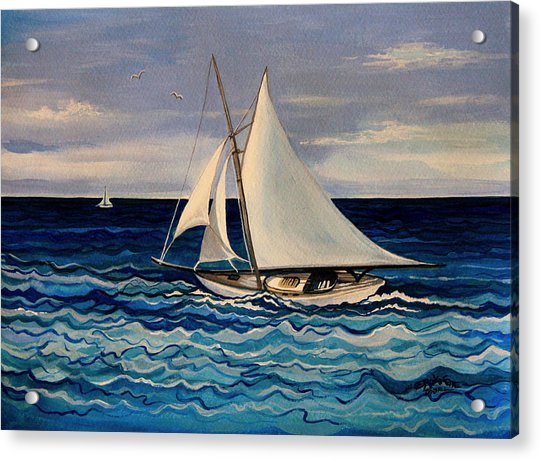 Sailing With The Waves Acrylic Print