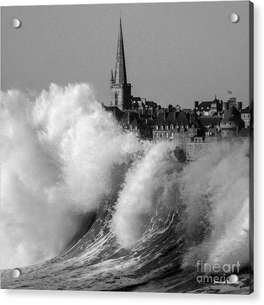 Saint-malo, The Wave Acrylic Print