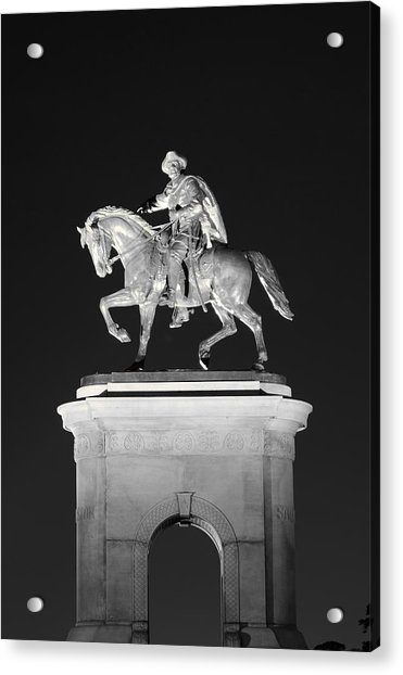 Sam Houston - Black And White Acrylic Print