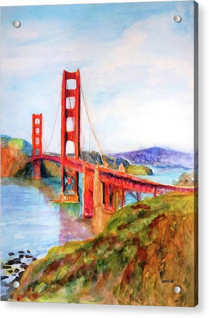 San Francisco Golden Gate Bridge Impressionism Acrylic Print