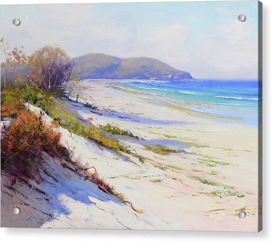Sand Dunes Port Stephens Nsw Acrylic Print