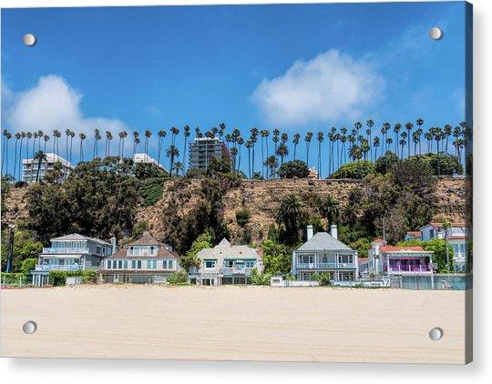 Santa Monica Beach Front Acrylic Print