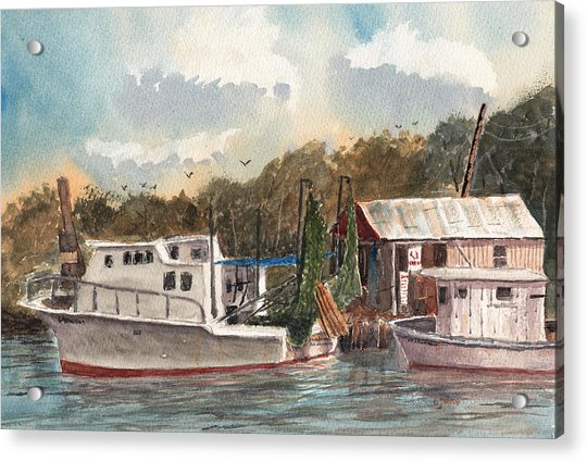 Savannah Bait - Coastal Watercolor Acrylic Print